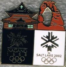 Nice 2002 Salt Lake City to 1998 Nagano Olympic Games Marks Bridge Pin