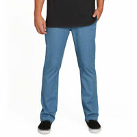Volcom Men's Frickin Modern Stretch Chino Pants Blue Rinse Clothing Apparel
