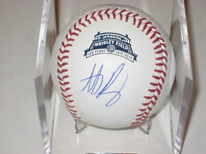 ANTHONY RIZZO Signed Official WRIGLEY 100th Anniv. Baseball - MLB Authenticated
