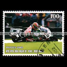 ★ RACING / HONDA VTR 1000 SP1 ★ BENIN Timbre Moto / Motorcycle Stamp #454
