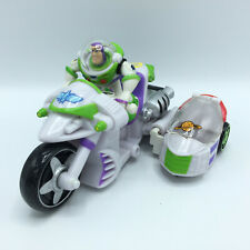 Disney Pixar Toy Story BUZZ LIGHTYEAR Motorcycle w/ Sidecar Hasbro 2004 RARE