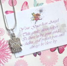 * * * * * Guardian Angel HOPE Pendant necklace + Verse Card * * * * *