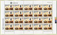 Briefmarken Zypern Europa Nr 566 - 567 ** postfrisch 2 X Kleinbogen 1982 BRS1046