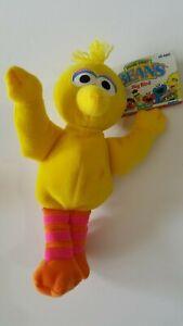 "Sesame Street  1997 Beans Plush Figure  8"" Big Bird  New with Tag  TYCO"