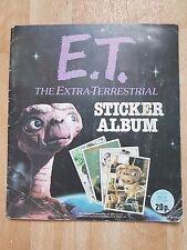 E.T EXTRA  - TERRESTRIAL PANINI STICKER ALBUM VINTAGE RETRO COLLECTABLE ET