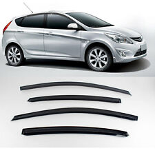 New Smoke Window Vent Visors Rain Guards for Hyundai Accent 5Door 2011 - 2013