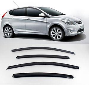 New Smoke Window Vent Visors Rain Guards for Hyundai Accent 5Door 2011 - 2013