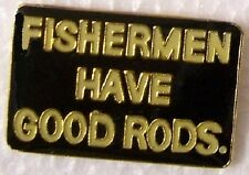 Hat Lapel Pin sports Fisherman have good Rods NEW