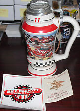 Budweiser Le Collector Stein In The Winners Circle Bill Elliot #11 Racing Stein