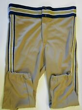 Nos Vtg 80s Rawlings Men's Baseball Pants Adult Small Dark Tan Blue White Usa
