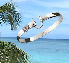 6mm .925 Sterling Silver ST. CROIX Caribbean Hook Bracelet - Size 7.5