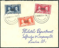 BRITISH COOK ISLAND TO GREAT BRITAIN Cover 1937