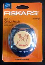 Fiskars 3-in-1 Corner Paper Punch Scrapbook Heritage NIP