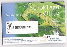 nederland coincard EERSTE DAG VAN UITGIFTE SCHOKLAND VIJFJE 2019
