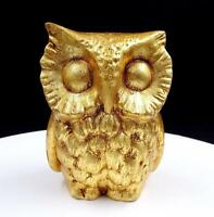 "FREEMAN & MCFARLIN POTTERIES OF CALIFORNIA GOLD 5 1/4"" OWL FIGURINE"