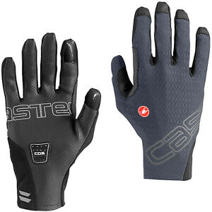 NEW Castelli Unlimited Long Finger Gloves, Dark Steel Blue, Large