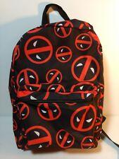 Deadpool Backpack Marvel Comic Black Red Back Pack School