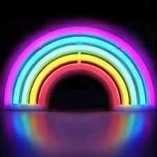 Rainbow Shaped Neon Light Desk Usb Table Lamp/Led Figurine Lamp Lights With Sign