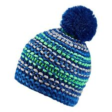 ADIDAS CHUNKY KIDS   BEANIE CHILDRENS KNITTED WINTER HAT BLUE-GREEN ONE SIZE