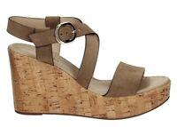 Sandali scarpe da donna con zeppa alta comoda Nero Giardini E012410D plateau