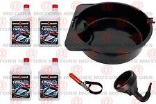 Oil Change Kit Funnel Drain Pan Wrench  4Pk Premium Motor Oil SAE 10W-40 1Qt New