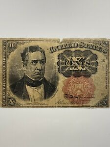 1849 Fractional Bank Note ~ Ten Cent Obsolete Banknote
