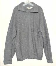 London Fog Gray Cable Knit Mens Full Zip Cardigan Sweater Sz XLT USA