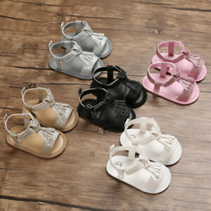Arrived Baby Girl Crib Shoes Infant Summer Sandals Soft Sole First Step Trainers