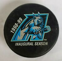 1998 - 1999 INAUGURAL SEASON GAME SUED HOCKEY PUCK ECHL EAST COAST LEAGUE SPORT