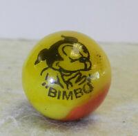 #12573m Vintage Peltier Comic Picture Marble Bimbo .67 Inches *Mint*