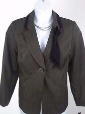 Charlotte & Co Jacket Woman Olive Green Black Trim - Career NWT - Size 18W