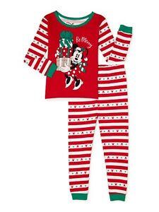 2-Piece Set 100% Cotton Boys Girls Mickey Minnie Mouse Christmas Halloween pajam