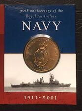 2001 Royal Australian Navy 90th Anniversary $1 coin UNC