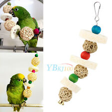 Pet Cage Hanging Swing Bites Chewing Climb Toys Bell for Bird Parrot Budgie New