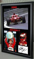 "Eddie Irvine  F1 Ferrari Framed Canvas Signed Print ""Great Gift or Souvenir"""