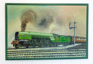 David Hey - Cock Of The North - Train Locomotive - Original Railway Painting