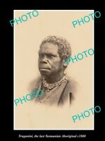 OLD LARGE HISTORIC PHOTO OF THE LAST TASMANIAN ABORIGINAL TRUGANINI c1880