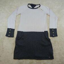 Tommy Hilfiger Dress Youth Medium 8 - 10 Years Grey White Casual Kids Girls *