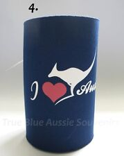 3x Australian Souvenir Stubby Holders - 3 Designs! Kangaroo Map Australia
