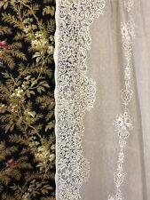 "Victorianna Design Cream Cotton Lace Curtain c1900s period 58""/72"""