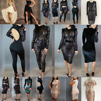 Women New Sequin Dress Clubwear Jumpsuit Rompers Cocktail Evening Wear 2 Pieces