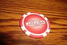 JAGUAR Car LOGO design Poker Chip Golf Ball Marker Burgundy Red & White