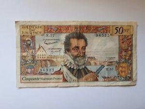 billet de banque 50NF Henri IV 7 avril 1960