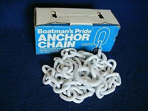 "ACCO Boatman's Pride Anchor Chain 1/4"" x 5ft Double Coated"
