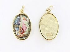 Guardian Angel Medal - Brass With Colour Picture