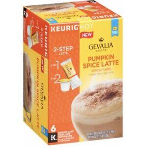 Gevalia Pumpkin Spice Latte K-Cup Coffee Pods • 6 Per Box • 6 Boxes