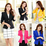 Fashion Women Long Sleeve Slim OL Suit Casual Blazer Jacket Coat Tops Outwear