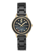 JUICY COUTURE Black Ceramic Watch w/Mother of Pearl Dial NWT $150 Black Label