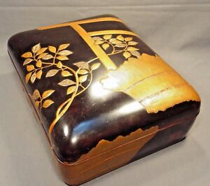 Late Edo/Early Meiji Period Japanese Lacquer Mother of Pearl/Pewter Document Box