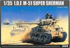Academy 1/35 Israel Midium Tank M-51 Super Sherman Tank Plastic Model Kit 13254